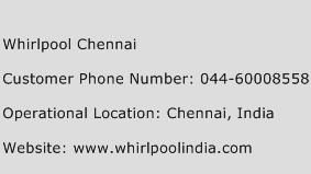 Whirlpool Chennai Phone Number Customer Service