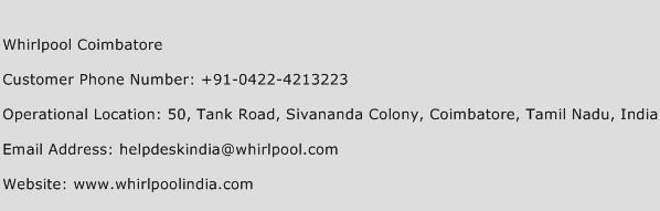 Whirlpool Coimbatore Phone Number Customer Service