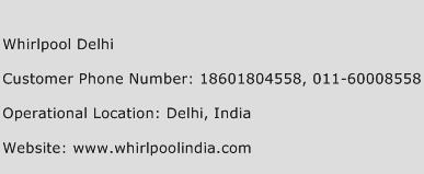 Whirlpool Delhi Phone Number Customer Service