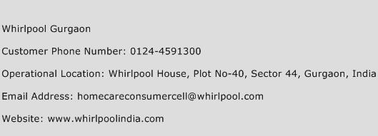 Whirlpool Gurgaon Phone Number Customer Service
