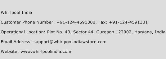 Whirlpool India Phone Number Customer Service