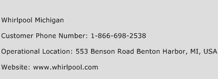 Whirlpool Michigan Phone Number Customer Service