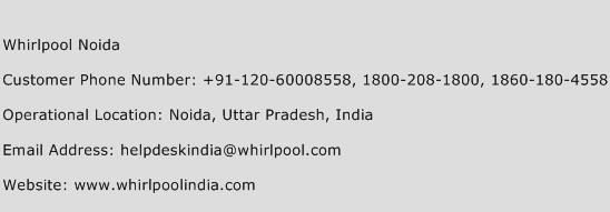 Whirlpool Noida Phone Number Customer Service