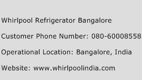 Whirlpool Refrigerator Bangalore Phone Number Customer Service