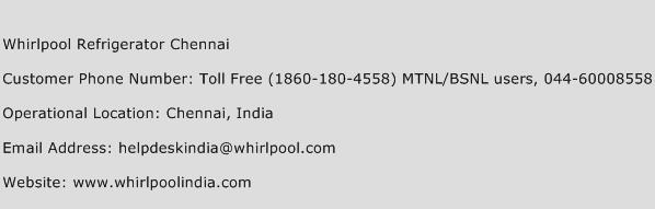 Whirlpool Refrigerator Chennai Phone Number Customer Service