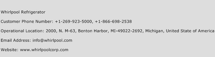 Whirlpool Refrigerator Phone Number Customer Service