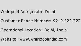 Whirlpool Refrigerator Delhi Phone Number Customer Service