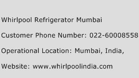 Whirlpool Refrigerator Mumbai Phone Number Customer Service