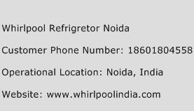 Whirlpool Refrigretor Noida Phone Number Customer Service