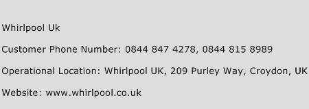 Whirlpool Uk Phone Number Customer Service