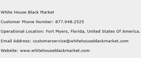 White House Black Market Phone Number Customer Service