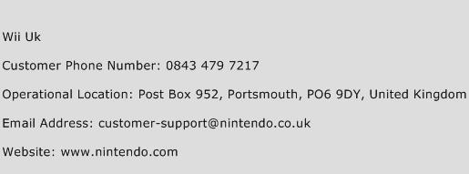 Wii Uk Phone Number Customer Service