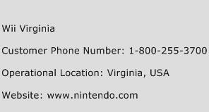 Wii Virginia Phone Number Customer Service