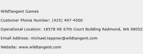 WildTangent Games Phone Number Customer Service