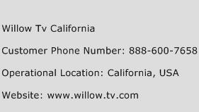 Willow Tv California Phone Number Customer Service