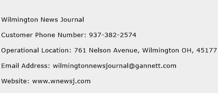 Wilmington News Journal Phone Number Customer Service