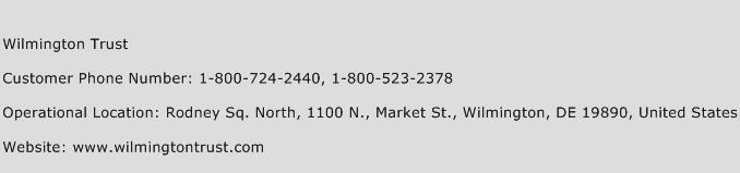 Wilmington Trust Phone Number Customer Service
