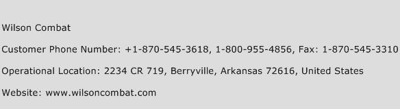 Wilson Combat Phone Number Customer Service