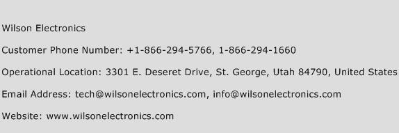 Wilson Electronics Phone Number Customer Service