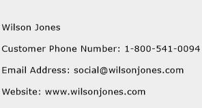 Wilson Jones Phone Number Customer Service