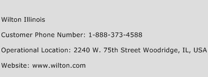 Wilton Illinois Phone Number Customer Service