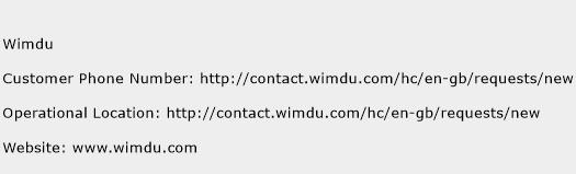 Wimdu Phone Number Customer Service