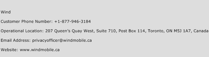 Wind Phone Number Customer Service