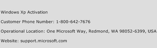 microsoft telephone activation number usa