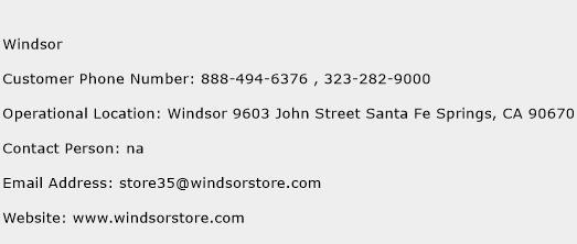 Windsor Phone Number Customer Service