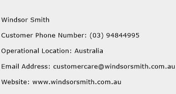 Windsor Smith Phone Number Customer Service