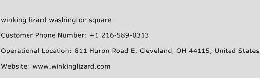 Winking Lizard Washington Square Phone Number Customer Service