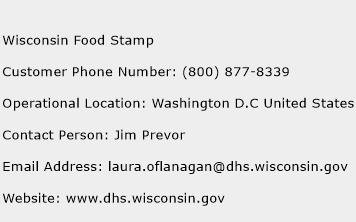 Wisconsin Food Stamp Phone Number Customer Service
