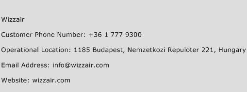 Wizzair Phone Number Customer Service