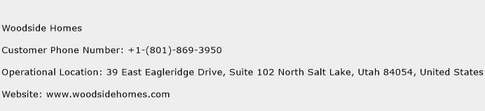 Woodside Homes Phone Number Customer Service