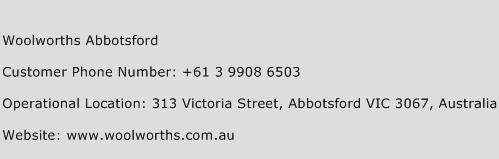 Woolworths Abbotsford Phone Number Customer Service