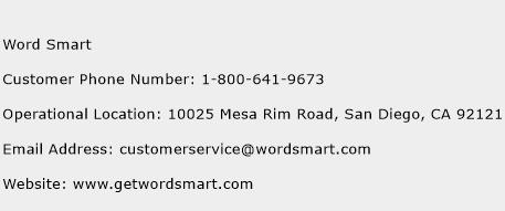 Word Smart Phone Number Customer Service