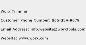 Worx Trimmer Phone Number Customer Service