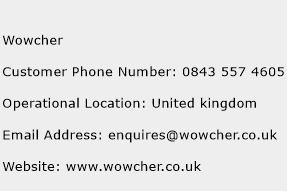 Wowcher Phone Number Customer Service