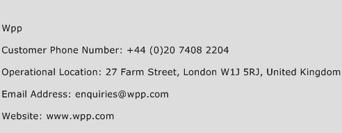 Wpp Phone Number Customer Service