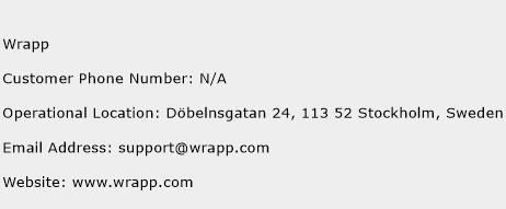 Wrapp Phone Number Customer Service