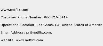 Www.netflix.com Phone Number Customer Service