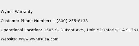 Wynns Warranty Phone Number Customer Service