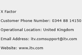X Factor Phone Number Customer Service