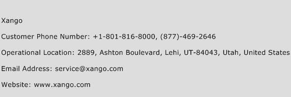 Xango Phone Number Customer Service