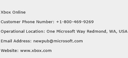Xbox Online Phone Number Customer Service
