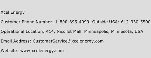 xcel energy customer service