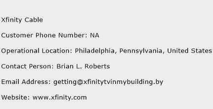 Xfinity Cable Customer Service Phone Number | Contact Number ...