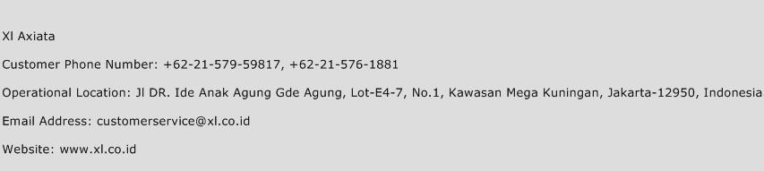 Xl Axiata Phone Number Customer Service