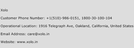 Xolo Phone Number Customer Service