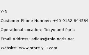 Y-3 Phone Number Customer Service